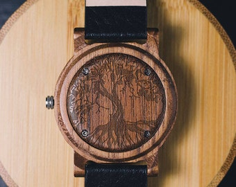 Tree of Life, Tree of Life Jewellery, Tree-of-Life, Gift for Her, Gift for Women, wood watch, Wooden Watch, Personalized Watch, Men's watch
