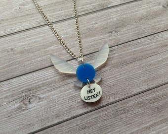 Navi necklace from The Legend of Zelda - Fairy, Link, Nintendo, geek, old school, retro, video games, console, ocarina of time