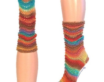 Woman's woolen socks multicolors