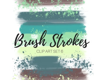 Paint brush clip art - Ink clip art- Paint brush clip art - website graphics - commercial use