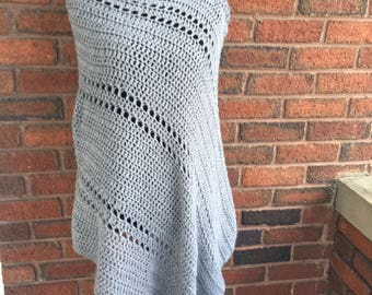 Crochet blanket shawl