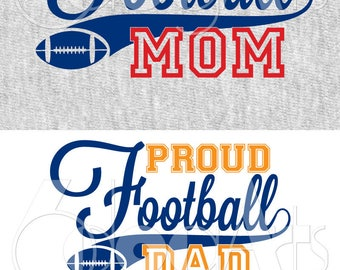 Proud Football Dad, Mom Vector Cut Files Svg Dfx Eps Png Silhouette SCAL Cricut Motivational Download for DIY Paper Vinyl Die Cutting JB-425