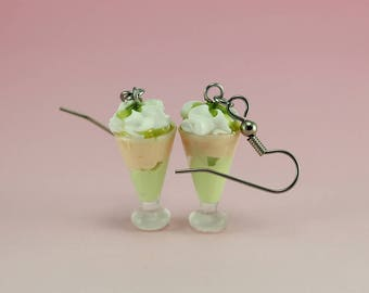 Pistachio Milkshake Earrings