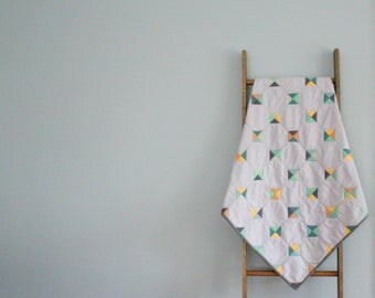 Custom Made-to-Order Baby Quilt - Tiny Tiles Design
