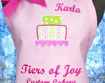 Pink Apron Cake Decorating with Personalization