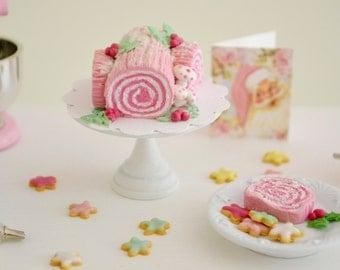 1:6 Play Scale Bûche de Noël Yule Log Christmas Cake by Sweet Petite Shoppe