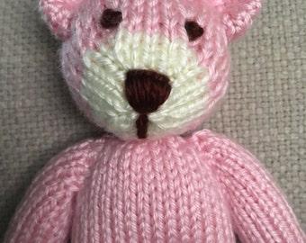 Stuffed Animal - Teddy Bear - Knitted Teddy Bear - Handmade Toy - Photo Prop - Stuffed Bear - Soft Toy