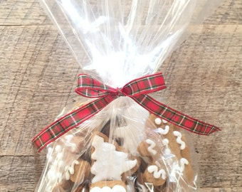 Fresh Baked, Frosted or Plain, Bite Sized Gingerbread Cookies-2 dozen (24) cookies