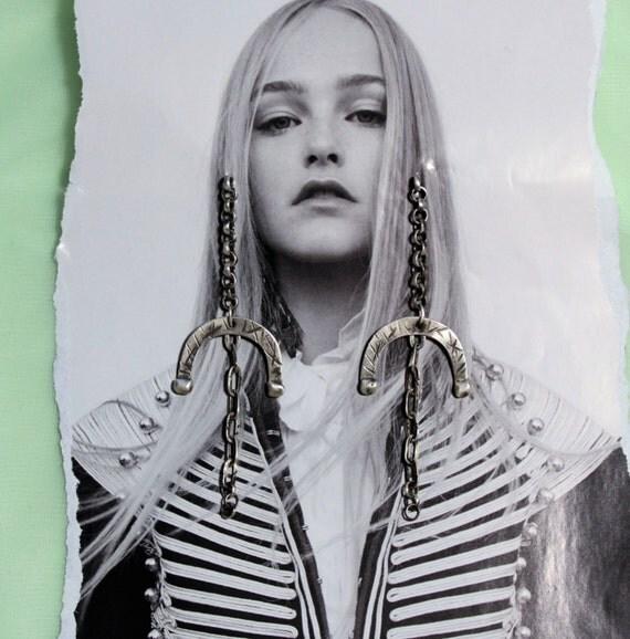 Boho Rustic Earrings Long | Hippy Earrings | Brushed Silver Earrings | Oxidized Silver | Sterling Silver Long Earrings | Artisan Earrings