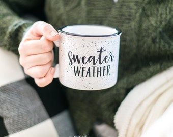 15 oz Campfire Stoneware Coffee Mug // Sweater Weather