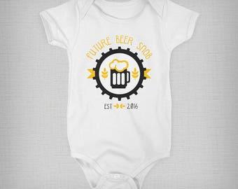 Beer Snob, Baby Onesie, Beer Onesie,  Funny Baby Onesie, Baby Boy, Baby Girl, Baby Gift, Unique Onesie, Retro Onesie, Retro Baby Clothes