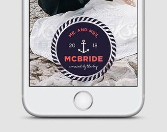 Nautical Wedding Snapchat Filter, Wedding Snapchat Geofilter, Wedding Snapchat, Wedding Geofilter, Wedding Filter