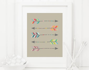Arrow Printable Tribal Arrow Print Tribal Nursery Wall Art Native Nursery Decor Southwest Nursery Art Boy Nursery Decor Colorful Arrows