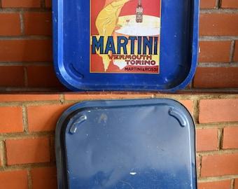 Martini Vermouth Torino Metal Tray - MARTINI & ROSSI VERMOUTH - Rare Vintage Alcohol Advertising Collectible