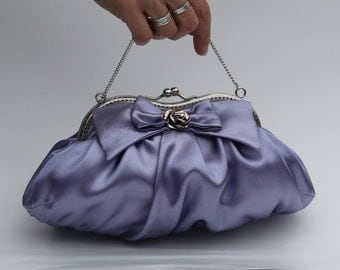 Lavender Clutch Purse, Mauve Evening Bag, Purple Clutch (Lily D.)