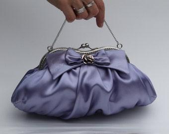Lavender Clutch Purse, Mauve Evening Bag, Purple Clutch (Lily D.)