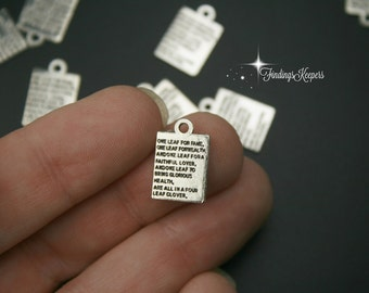Clover Charms, Antique Silver Tone, 15 x 10 mm ts1181