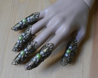 Nails Elb Elfe Fantasy Filigree Claws armor ring