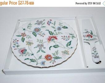 ON SALE Andrea Cake Plate and Server Porcelain China Buckingham