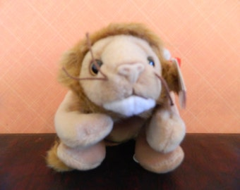 "TY Brown Lion Beanie Baby ""Roary"" (B)"