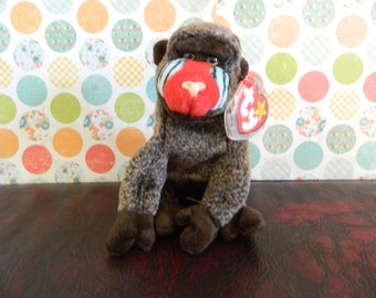 "TY Brown Baboon Monkey ""Cheeks"" (B)"
