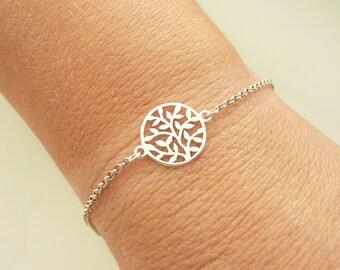 Tree of Life Bracelet, Sterling Silver Bracelet, Gold Tree Bracelet, Family Tree Bracelet, 925 Sterling Silver Jewelry