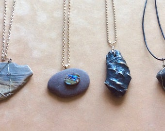 STONE PENDANTS  Designed by Andrea Comsky