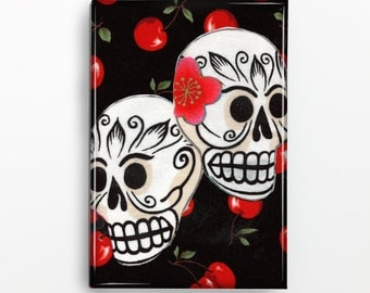 Sugar Skulls Rectangle Magnet 142