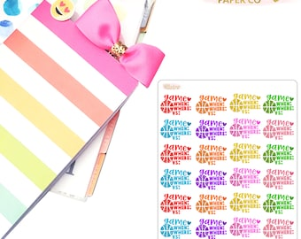 Basketball Game Planner Stickers