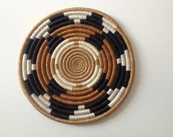 below of dish woven African / tray handmade ethnic patterns