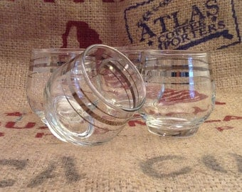Very Small Vintage Tumblers set of 4