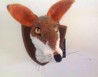 Mr Fox soft sculpture