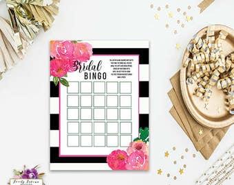 Bridal Bingo - Bridal Shower Game - Kate Spade Inspired - INSTANT DOWNLOAD