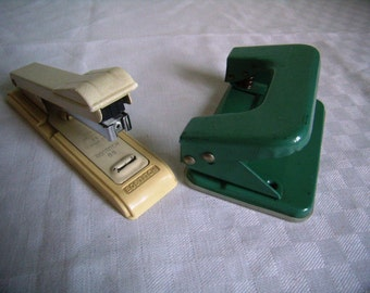 Hole punch and stapler Bostitch B, 8 Vintage Office, industrial supply