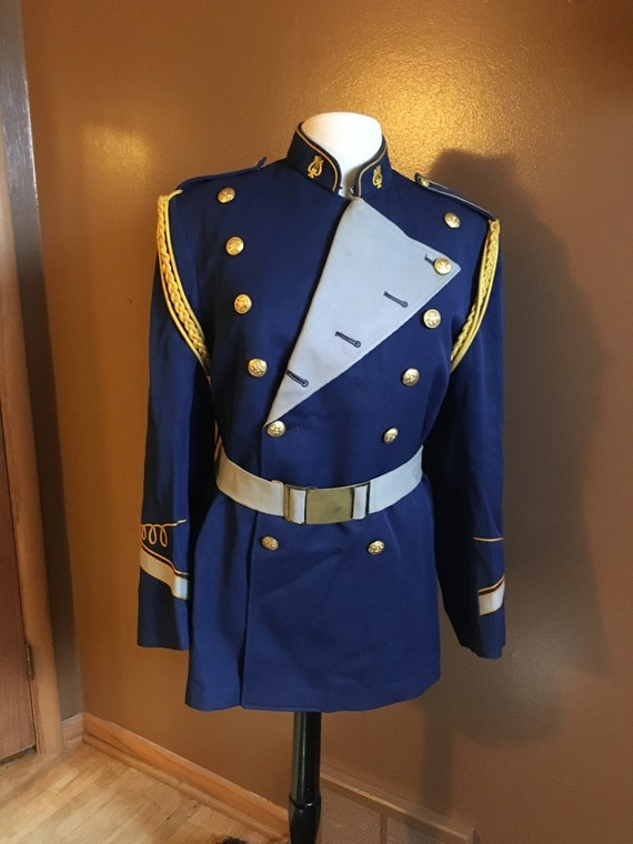 Vintage Marching Band Uniform Nautical Jacket made by Craddock