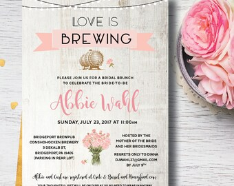 Love is Brewing | Love is Brewing Invitation | Bridal Shower Invitation | Rustic Bridal Shower | Couples Bridal Shower Invitation |