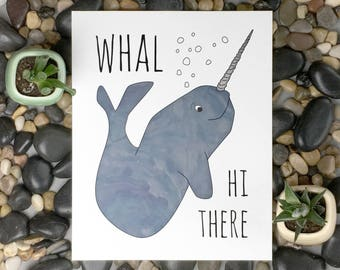 Narwhal wall art | Narwhal print | Cute nursery decor | Gift for friend | Housewarming gift | Gift for her | Baby shower gift
