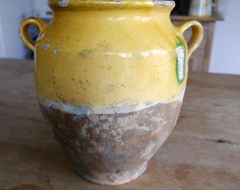 Vintage french confit pot/ Antique Confit pot