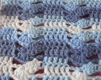 Ocean Blue baby blanket