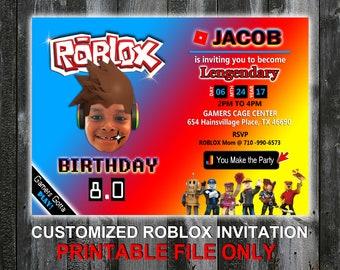Roblox Birthday Invitation - Printable, DIY or Printing Option Available