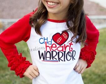 CHD Heart Warrior Shirt- CHD- 1 in 100- Congenital Heart Disease- Awareness- Tee-Raglan- Warrior- Fighter- Congenital Heart Defect- Mended