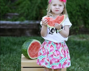 Watermelon Skirt, Watermelon, Fruit, Sweet, Skirt, Toddler Skirt, Summer