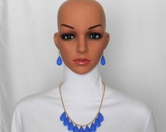 Periwinkle Blue Pears Jewelry Set