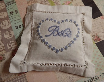 Authentic French Bebe Lavender Sachet Pillow Purchased From Brocante Market in Paris