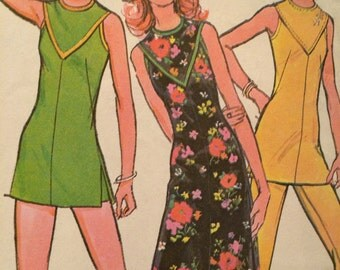 Misses' Dress or Tunic and Pants or Shorts Pattern---McCalls 3193