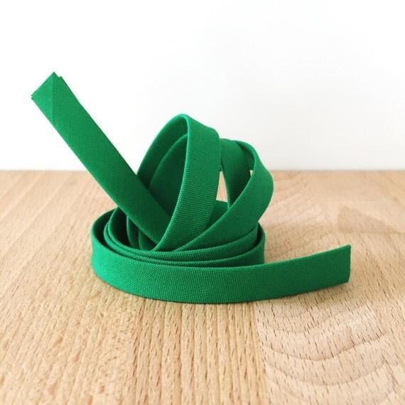 "Bias Tape in Kona Clover green cotton 1/2"" double-fold binding- 3 yard roll"