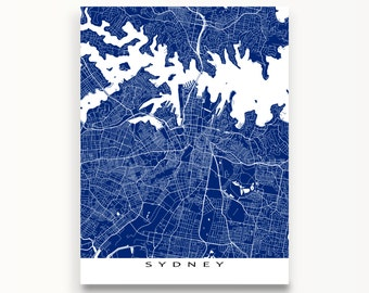 Sydney Map Print, Sydney Art, Sydney Australia, City Map Art