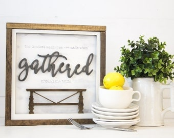 Farmhouse Table | DIY Pocket Insert Kit | SIZE C | Frame Not Included