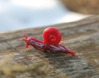 Snail glass sculpture GLASS SLUG lampwork Glass Snail Handcrafted