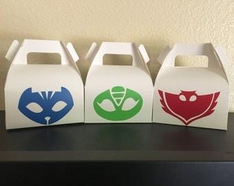 Pj Mask Party gift box, Pj Mask gift bags, Pj Mask Party favors, PJMask